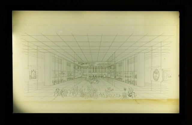 , 'Perspectiva do Layout da Sala de Exposição,' 1947, Museo de Arte Contemporáneo de Buenos Aires