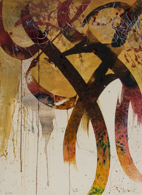 José Parlá, 'Noise', 2009, Mixed Media, Mixed media on paper, Forum Auctions