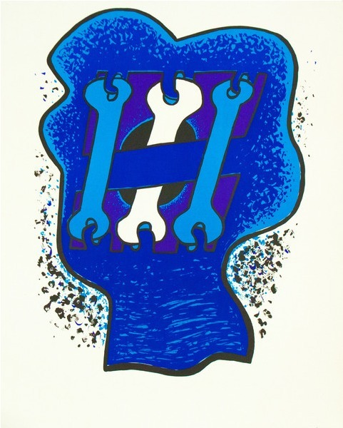 , 'Key Head, Three Blues,' 1969, Caviar20