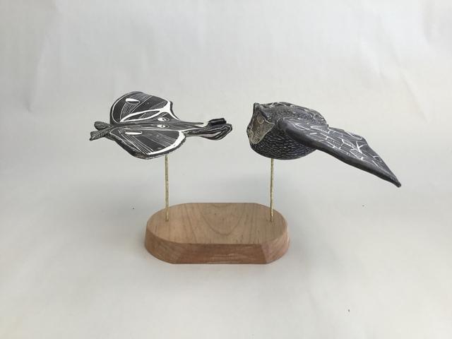 , 'Little Brown Bat & Luna Moth,' 2019, Greenhut Galleries