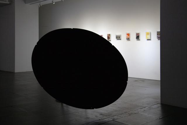 Richard Streitmatter-Tran, 'A Black Hole', 2020, Sculpture, Satellite dish, umbrella handle, ultra black paint, de Sarthe Gallery