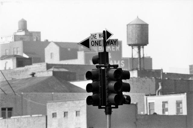 David Vestal, 'Traffic Signal & Buildings from 14th Street & Ninth Avenue, NYC', 1962, Robert Mann Gallery