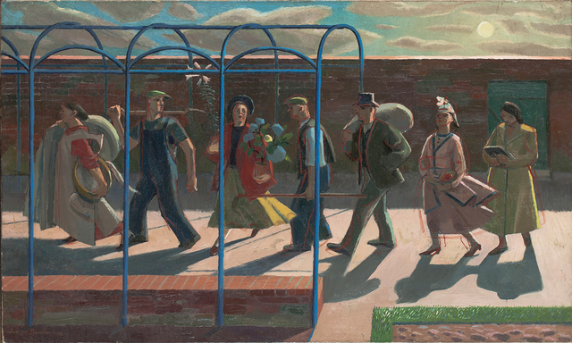 , 'Seven Days, inscribed on stretcher 'Design for mural',' 1939, Liss Llewellyn