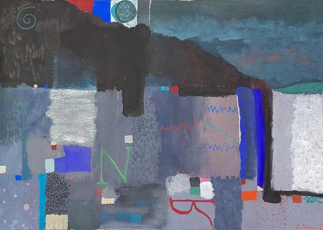 Carlos Pellicer, 'Estudio para Paisaje de Normandía', 1999, Painting, Gouache on paper, Aldama Fine Art