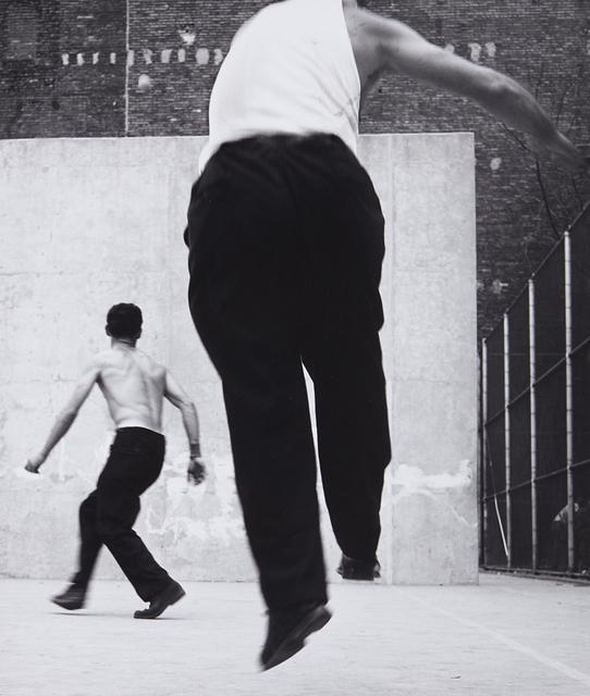 Leon Levinstein, 'Handball players, Houston Street, New York', 1970, Photography, Gelatin silver print, printed later, Phillips