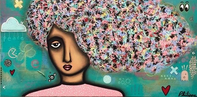 Philippe Guérin, 'Peace 2', 2019, Painting, Acrylique, graphite, pastel à l'huile et époxy sur bois, Artêria