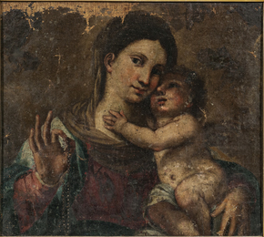 Madonna and Child with Rosary