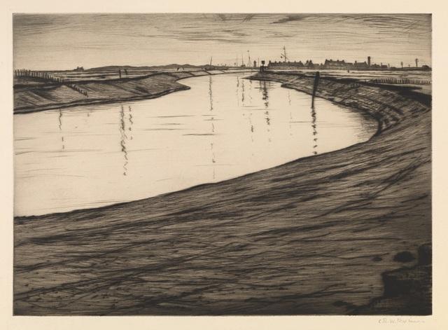 , 'Ebb Tide on the Camber,' 1918, Osborne Samuel