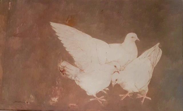 Jamil Naqsh, 'Three Pigeons ', 1982, Eye For Art Houston