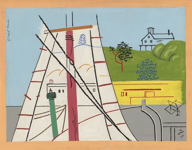 , 'Red Mast,' 1930, Hollis Taggart Galleries
