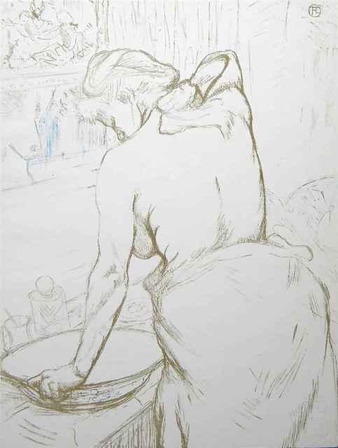 """Henri de Toulouse-Lautrec, '""""Femme Qui Se Lave"""" ( Woman Washing Herself)', 1969, Leviton Fine Art"""