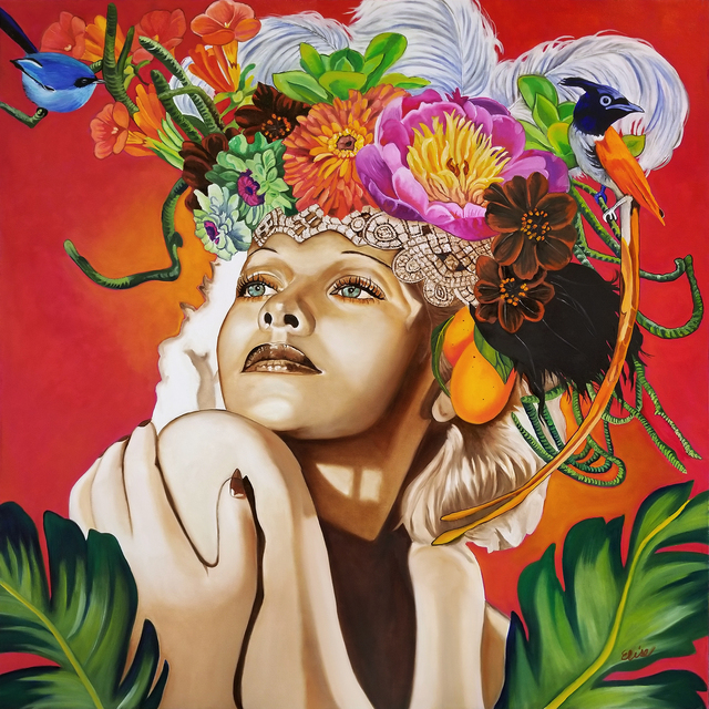 ", '""Cosmos"", (Lucille Ball),' 2019, Parlor Gallery"