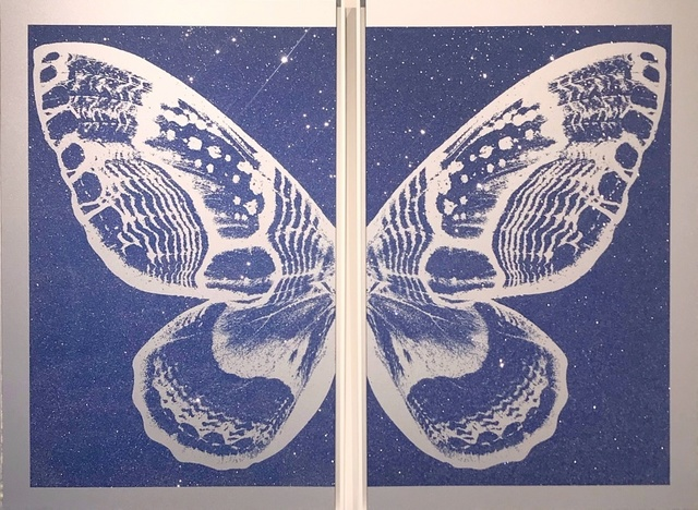 , 'Hybrid Diptych Butterfly - Blue on Silver,' , Art Angels