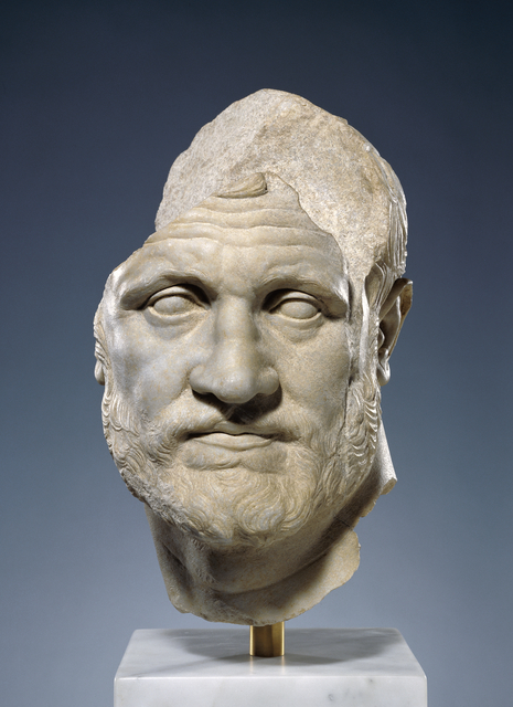 'Portrait of a Bearded Man', 160 BCE -150 BCE, J. Paul Getty Museum