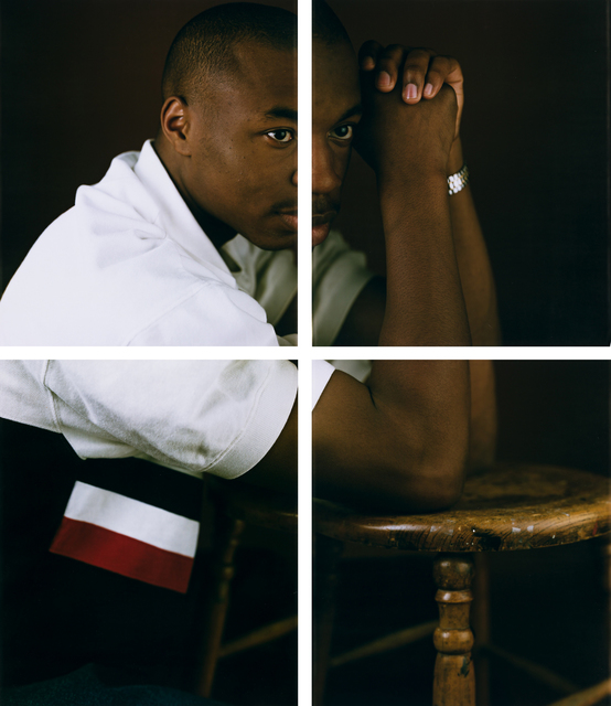 Dawoud Bey, 'Damian', circa 1995, Photography, Set of four unique Polaroids, mounted, Swann Auction Galleries