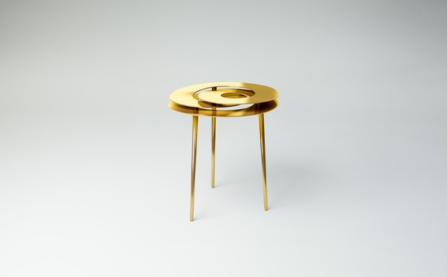 Janne Kyttanen, 'Rollercoaster Small Table (Gold Plated)', 2014, Gallery ALL