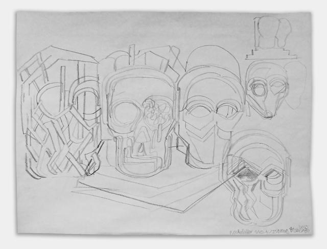 Thomas Houseago, 'study for Rockefeller Masks', 2015, Public Art Fund Benefit Auction