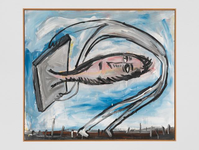, 'Kopf aus der Platte ... Bewegt! / nicht bewegkopf! ...,' 1981, Galerie Andrea Caratsch