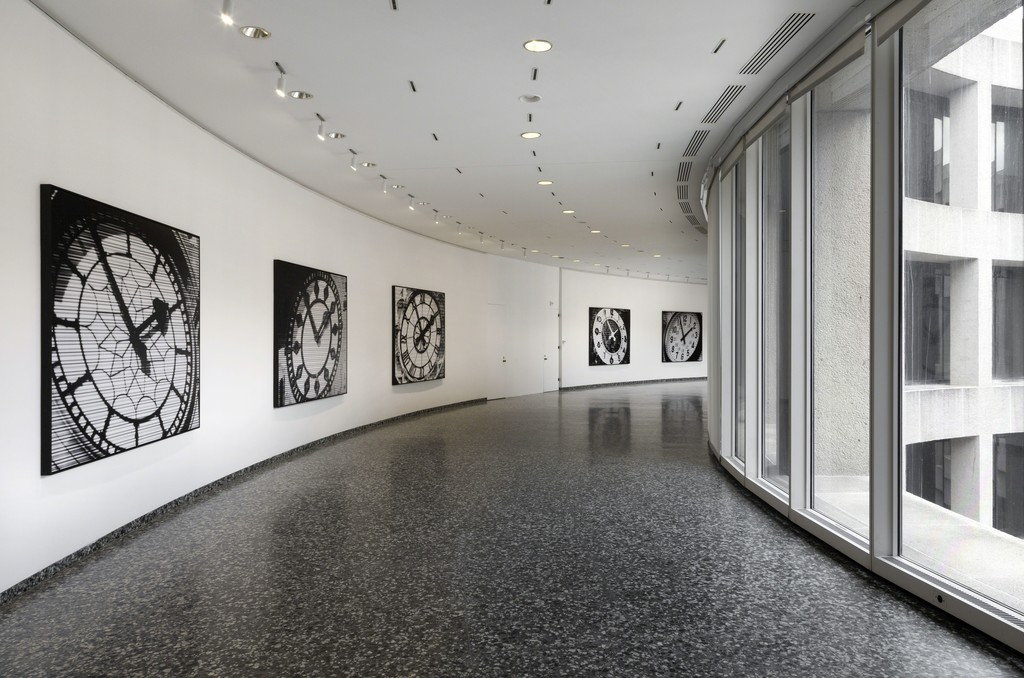 Installation view of Bettina Pousttchi: World Time Clock at the Hirshhorn Museum and Sculpture Garden, 2016.  Photo: Cathy Carver