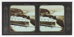Frederick and William Langenheim, 'Winter Niagara Falls, General View from the American Side', 1856, Photography, Glass stereoscopic transparency, black tape, brush and white and gold paint, Cooper Hewitt, Smithsonian Design Museum