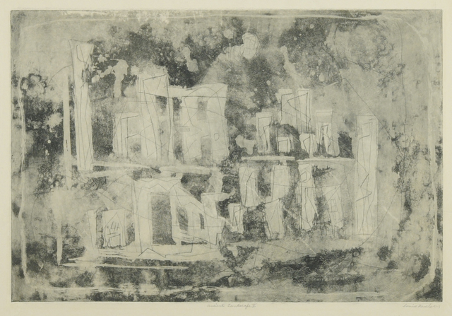 , 'Ancient Landscape II (Ancient City),' 1953, Thomas French Fine Art