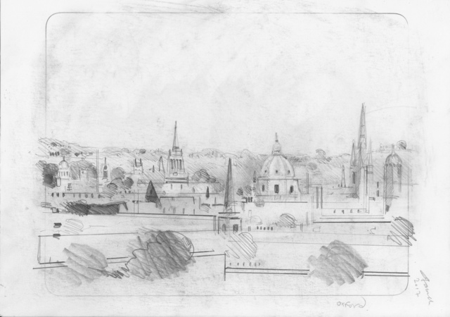 , 'Oxford Drawing #12 Oxford Skyline 3,' 2017, Sarah Wiseman Gallery
