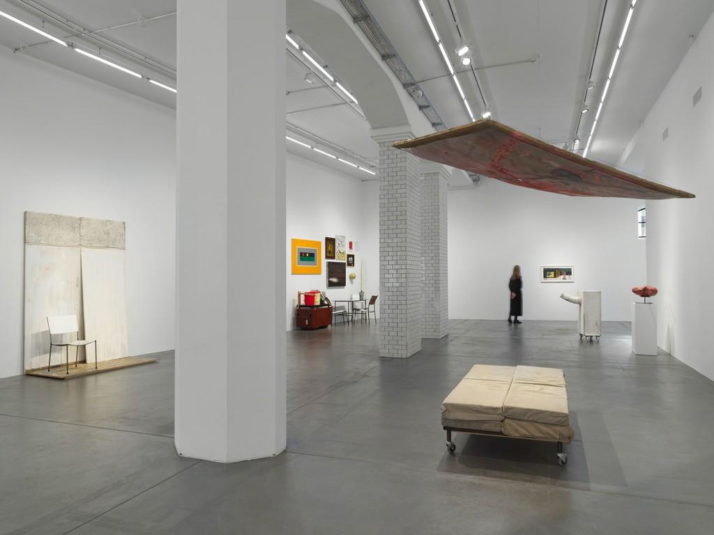 Installation view, 'Dieter Roth and Franz West,' Hauser & Wirth Zürich, 2019. © Dieter Roth Estate, © Archive Franz West / © 2019 Estate of Franz West. Courtesy the estates and Hauser & Wirth