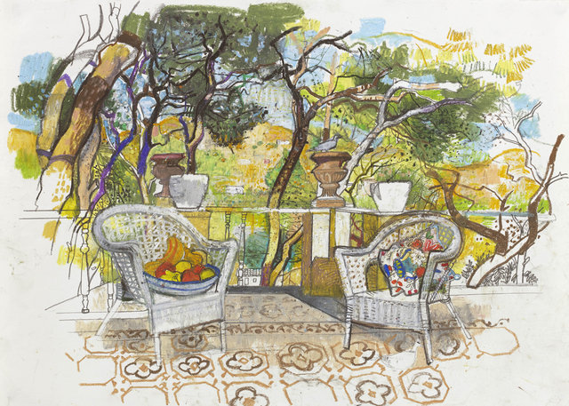 , 'On the terrace, Syros 2017,' 2018, John Martin Gallery