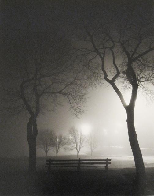 Alex Fradkin, 'Park Bench at Night', Chicago Art Source