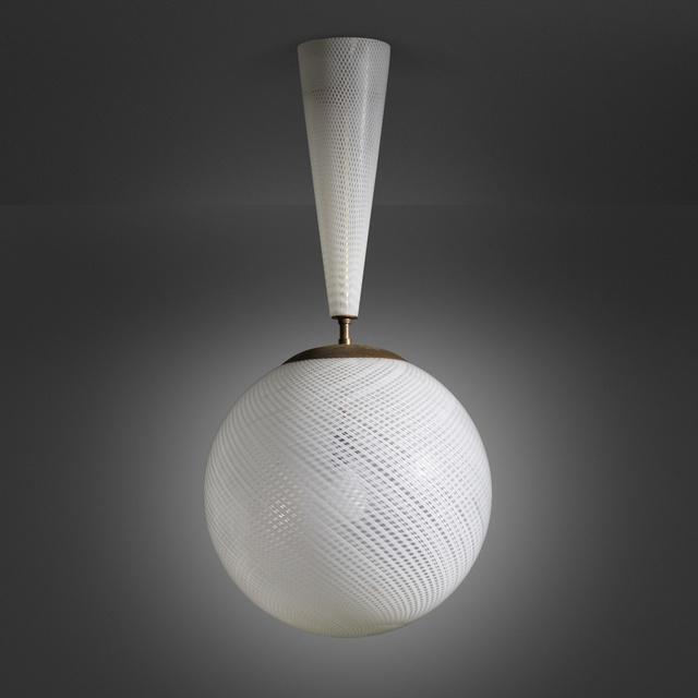 Carlo Scarpa, 'Reticello chandelier, model 5417', c. 1931, Wright