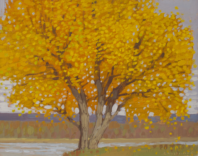 , 'Autumn Cottonwood and River View,' 2019, Maxwell Alexander Gallery