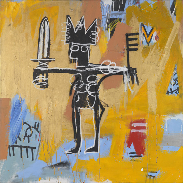Jean-Michel Basquiat, 'Untitled (Julius Caesar on Gold)', 1981, Painting, Acrylic and oil paintstick on canvas, Gagosian