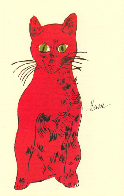 Andy Warhol, '25 Cats Name[d] Sam and One Blue Pussy IV.53', 1954, Hamilton-Selway Fine Art