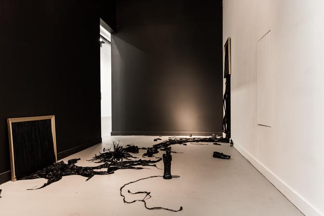 , 'Film Noir dans les cadres dorés (Black Film in gold frames),' 2016, Mariane Ibrahim Gallery