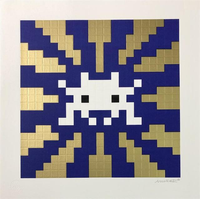 Invader, 'SUNSET (GOLD & BLUE)', 2018, Marcel Katz Art