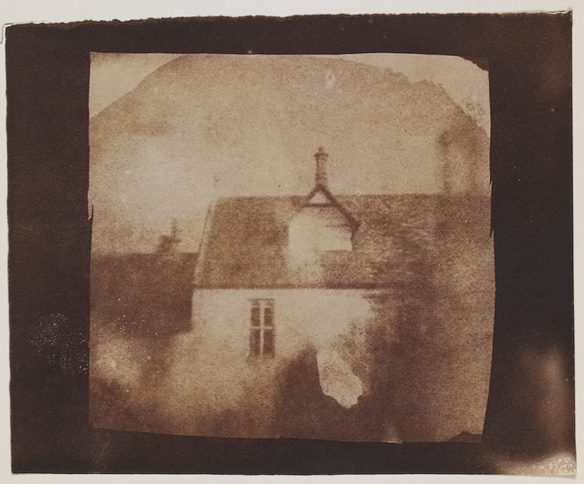, 'Stable roofline, northeast courtyard, Lacock Abbey,' likely September 1840, Hans P Kraus Jr. Fine Photographs
