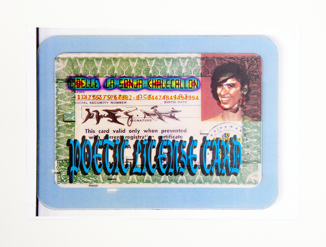 , 'Poetic license card,' 2010, Mendes Wood DM