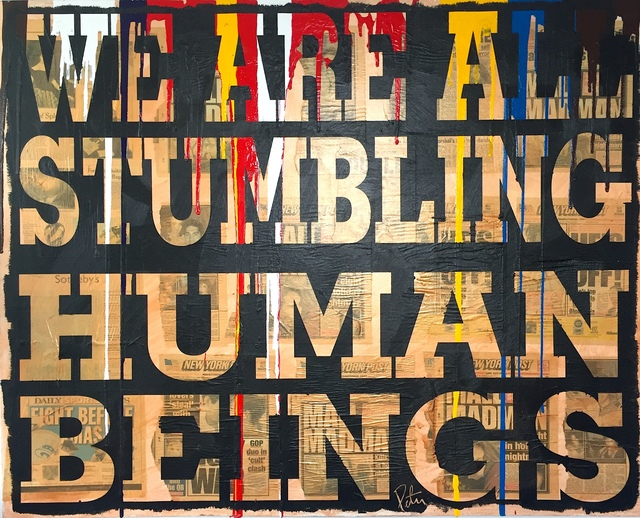 ", '""Stumbling Humans"",' ca. 2010, Parlor Gallery"