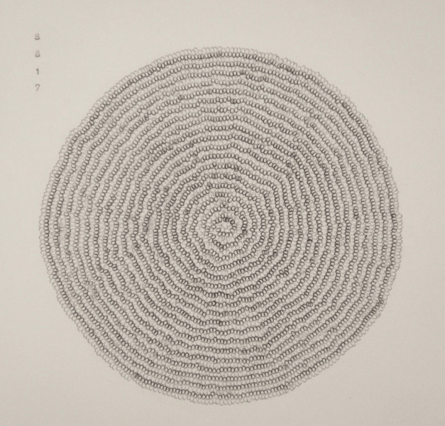 Stephanie Strange, 'Numen', 2018, Drawing, Collage or other Work on Paper, Typewriter on paper, Wally Workman Gallery