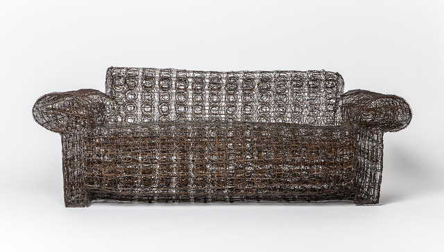 """, '""""Untitled"""" wire couch,' 1990, Magen H Gallery"""