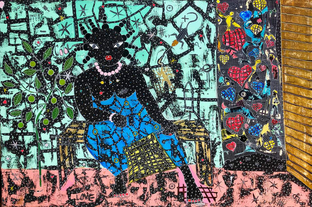 Henri Abraham Univers, 'Africa Blues ', 2020 , Painting, Acrylic on canvas, Out of Africa Gallery