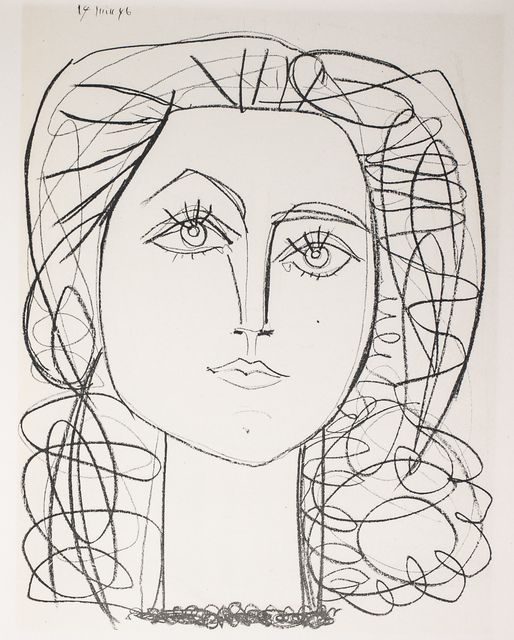 Pablo Picasso, 'Francoise, 1949 Limited edition Lithogrph by Pablo Picasso', 1949, Print, Lithograph, White Cross