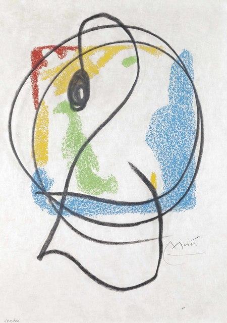 Joan Miró, 'Les Essències de la Terra', 1968, Print, Lithograph in colors with hand-coloring in black, on Japon paper, Christie's
