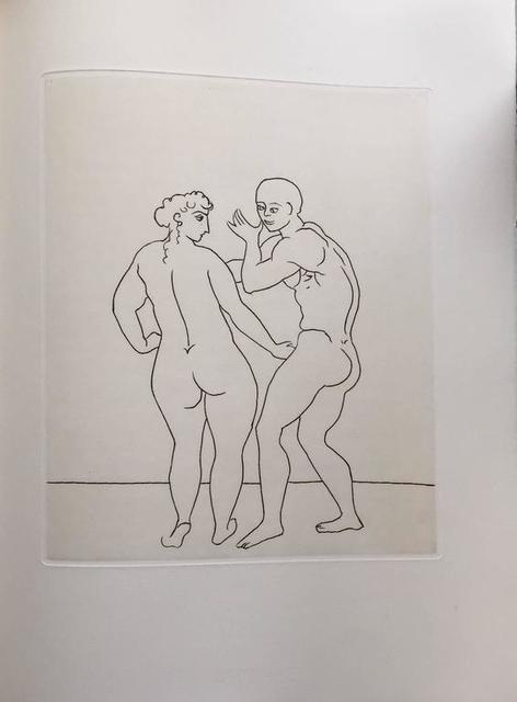 André Derain, 'Erotic Male Nude - Etching from Le Satyricon', Lions Gallery