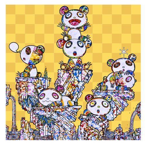 Takashi Murakami, 'PANDA CUBS PANDA', 2019, Print, 4c offset + cold stamp, Dope! Gallery
