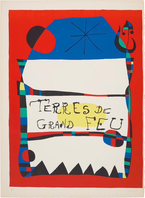Joan Miró, 'Exhibition 'Terres de grand Ffeu (Land of Great Fire), Miro-Artigas', at the Galerie Maeght', 1956, Phillips