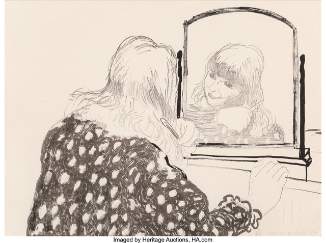 David Hockney, 'Ann Combing Her Hair', 1979, Heritage Auctions