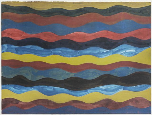 , 'Irregular Wavy Horizontal Color Bands,' 1992, Barbara Mathes Gallery