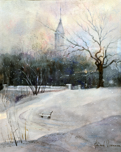 , 'Central Park Flurries,' 2019, The Galleries at Salmagundi