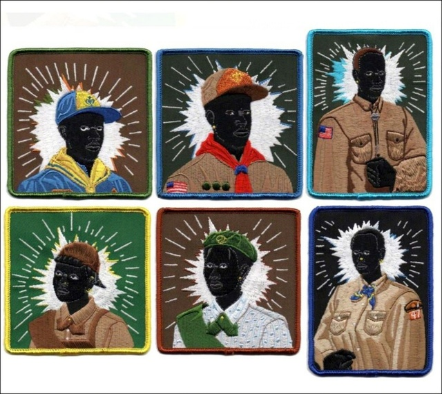 Kerry James Marshall, 'Set of Six (Six) Scout Series Embroidered Patches', 2017, Alpha 137 Gallery Auction
